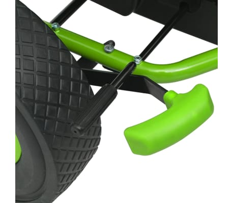 vidaXL Pedal Go Kart with Adjustable Seat Green[5/6]