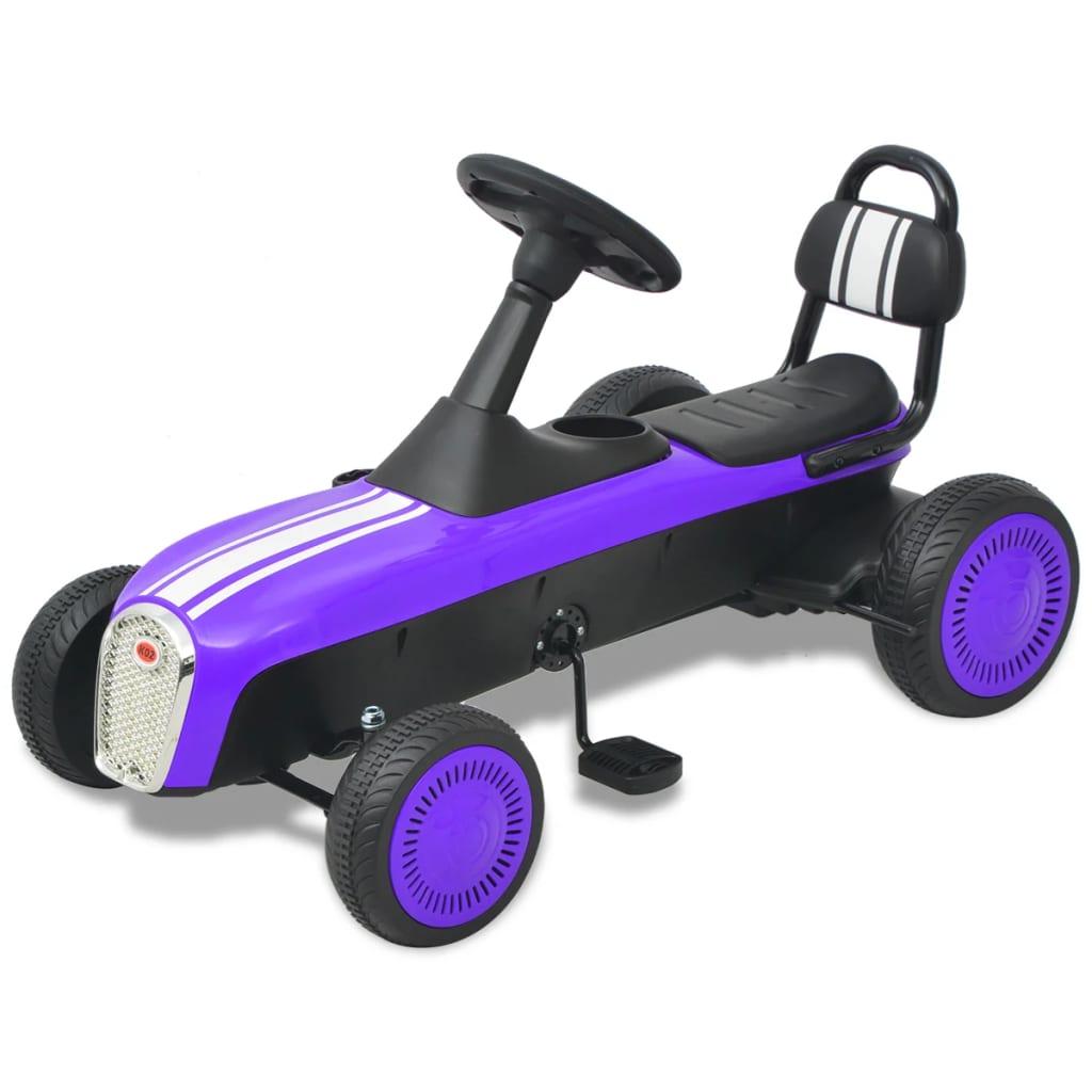 vidaXL Mașinuță kart cu pedale, mov poza 2021 vidaXL