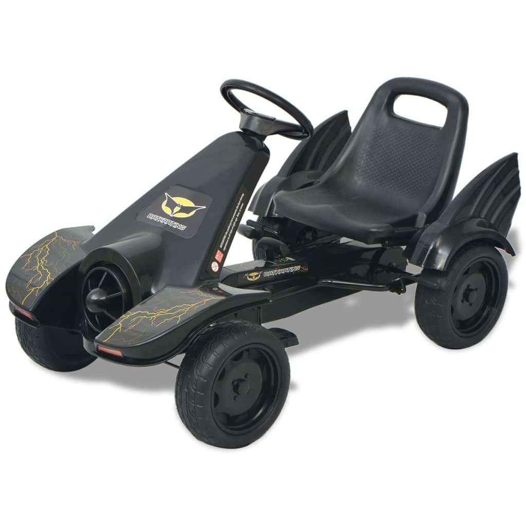 vidaXL Mașinuță kart cu șezut reglabil neagră poza 2021 vidaXL