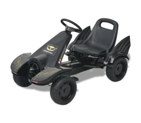 vidaXL Pedal-go-kart med justerbart sete svart