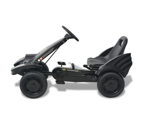 vidaXL Mașinuță kart cu șezut reglabil neagră[3/6]