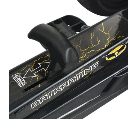 vidaXL Mașinuță kart cu șezut reglabil neagră[6/6]