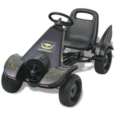 vidaXL Mașinuță kart cu șezut reglabil neagră[2/6]