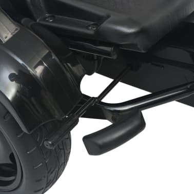 vidaXL Mașinuță kart cu șezut reglabil neagră[5/6]