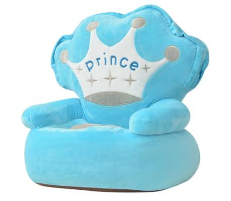vidaXL Pliušinė vaikiška kėdė Prince, mėlyna[1/3]