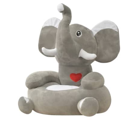 vidaXL Plush Children's Chair Elephant Grey[1/3]