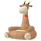 vidaXL Scaun din pluș pentru copii cu model girafă, maro