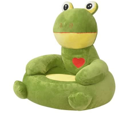 vidaXL Plush Children's Chair Frog Green