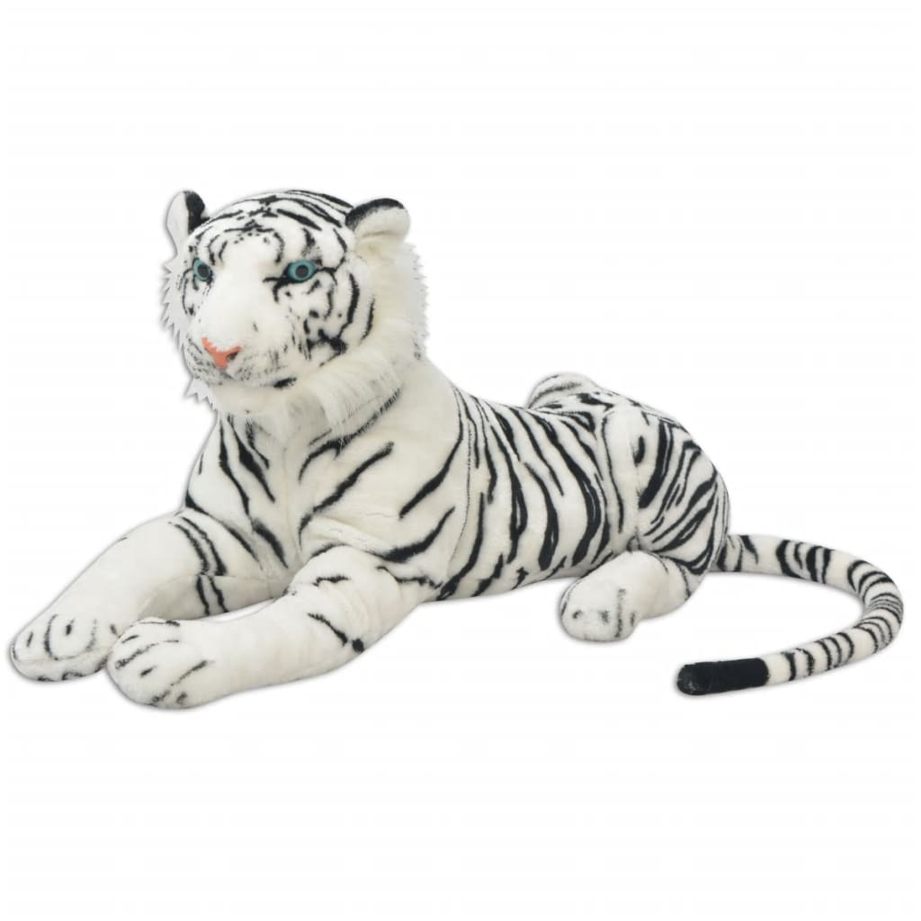 Tygr plyšová hračka bílý XXL