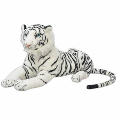 vidaXL Tigre de peluche blanco XXL[1/5]