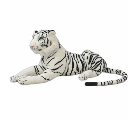 vidaXL Tigre de peluche blanco XXL[2/5]