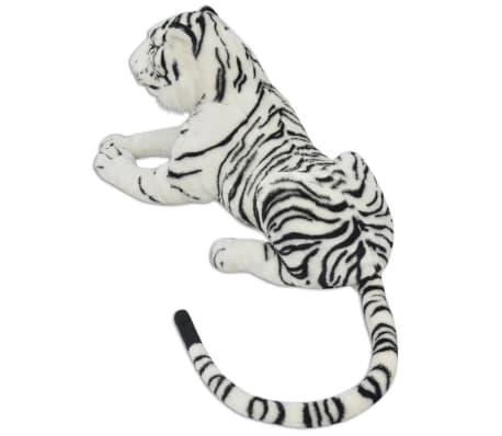 vidaXL Tigre de peluche blanco XXL[3/5]