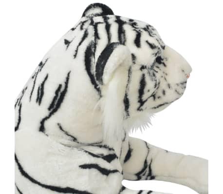 vidaXL Tigre de peluche blanco XXL[4/5]