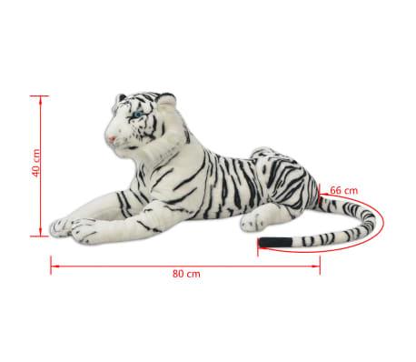 vidaXL Tigre de peluche blanco XXL[5/5]