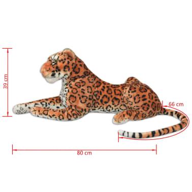 vidaXL rotaļu leopards, XXL, brūns plīšs[5/5]