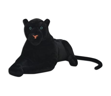 vidaXL Panther Toy Plush Black XXL