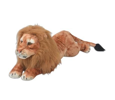 vidaXL rotaļu lauva, XXL, brūns plīšs