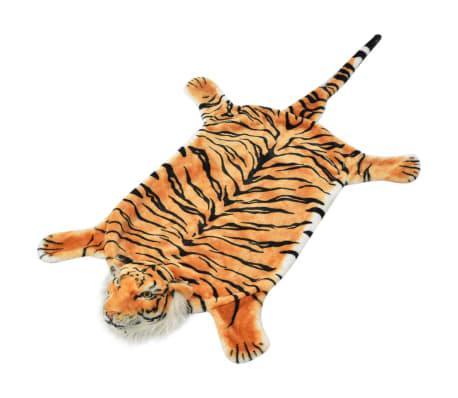 vidaXL Pluszowy dywanik - tygrys, 144 cm, brązowy[1/4]