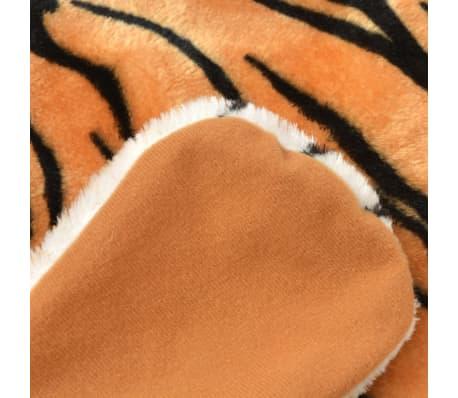 vidaXL Pluszowy dywanik - tygrys, 144 cm, brązowy[3/4]