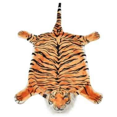 vidaXL Pluszowy dywanik - tygrys, 144 cm, brązowy[2/4]
