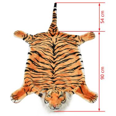 vidaXL Pluszowy dywanik - tygrys, 144 cm, brązowy[4/4]