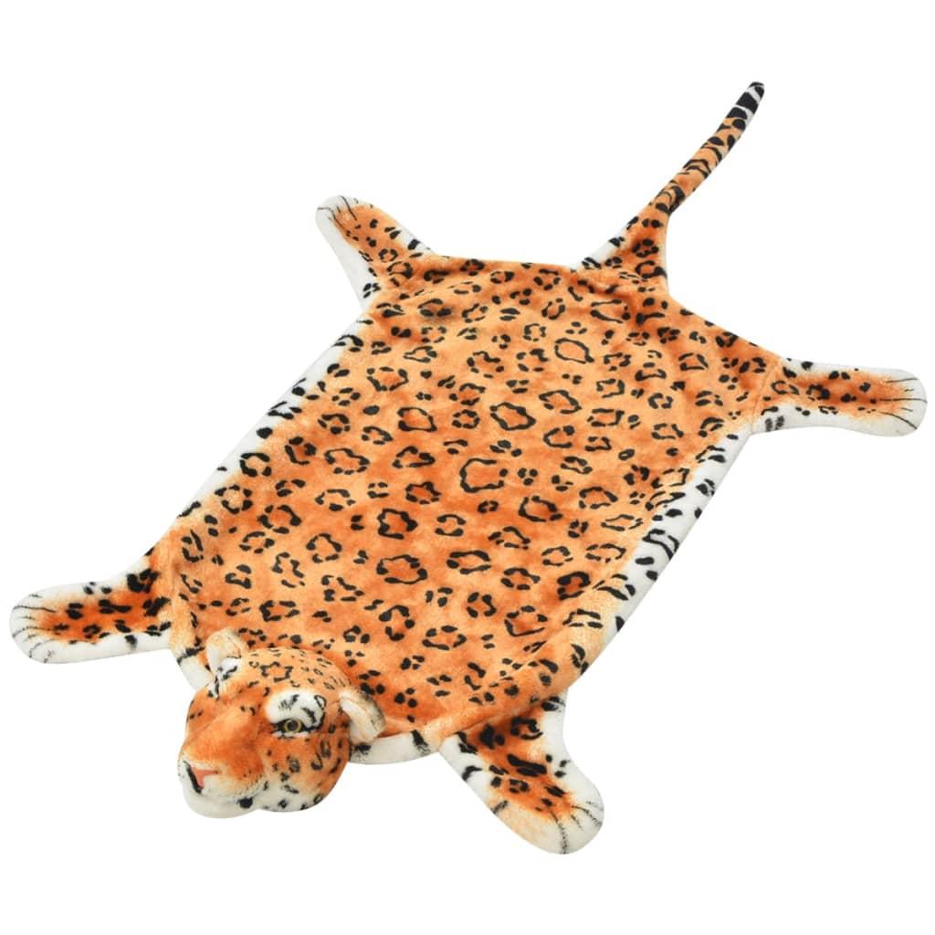 Plyšový koberec leopard 139 cm hnědý