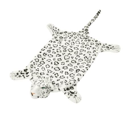 vidaXL Plišasta preproga leopard 139 cm bele barve