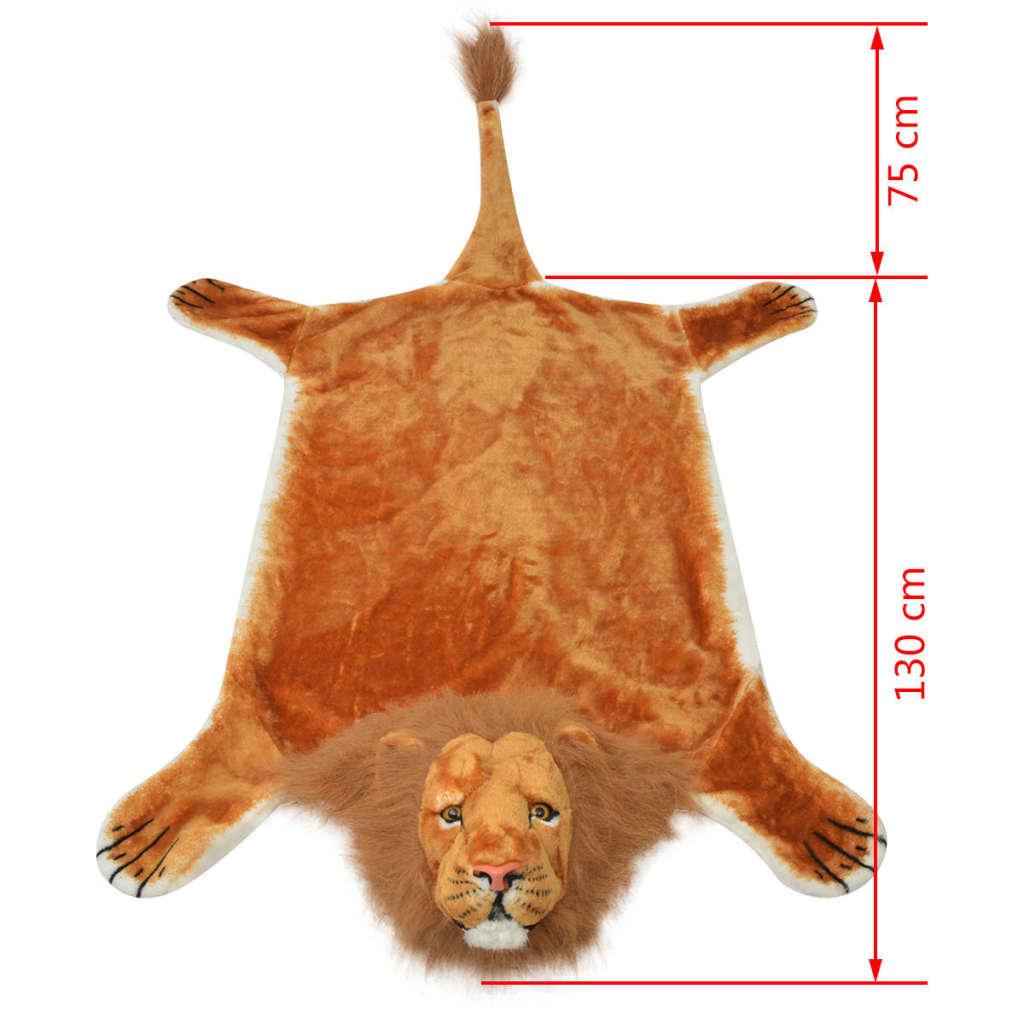 Leeuwenvloerkleed pluche 205 cm bruin