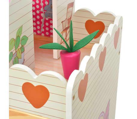 vidaXL Maison de poupées à trois étages Bois 60 x 30 x 90 cm[5/9]