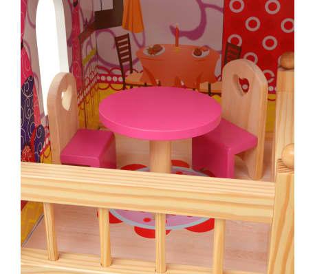 vidaXL Maison de poupées à trois étages Bois 60 x 30 x 90 cm[7/9]