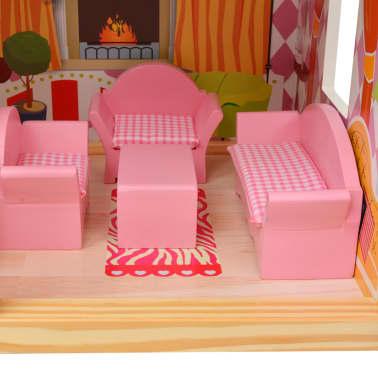 vidaXL Maison de poupées à trois étages Bois 60 x 30 x 90 cm[8/9]