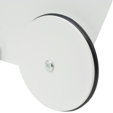 vidaXL Vežimėlis lėlėms, medinis, 53x25,7x50 cm, baltas[6/6]