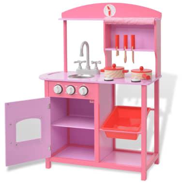 acheter vidaxl cuisine jouet 60 x 27 x 83 cm bois rose pas cher. Black Bedroom Furniture Sets. Home Design Ideas