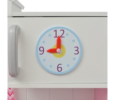 vidaXL Κουζίνα Παιδική Ροζ και Λευκή 82 x 30 x 100 εκ. Ξύλινη[3/7]