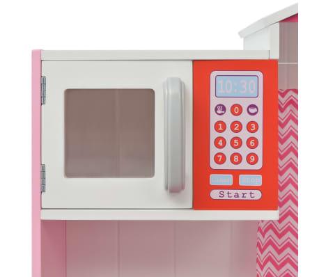 vidaXL Κουζίνα Παιδική Ροζ και Λευκή 82 x 30 x 100 εκ. Ξύλινη[5/7]