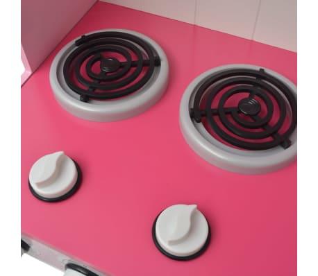 vidaXL Κουζίνα Παιδική Ροζ και Λευκή 82 x 30 x 100 εκ. Ξύλινη[7/7]