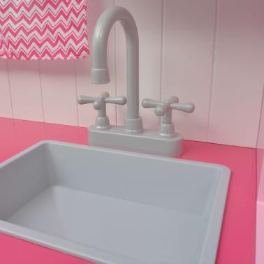 vidaXL Κουζίνα Παιδική Ροζ και Λευκή 82 x 30 x 100 εκ. Ξύλινη[6/7]