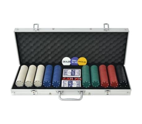 vidaXLi 500 žetooniga pokkerikomplekt alumiiniumkohvris[1/5]