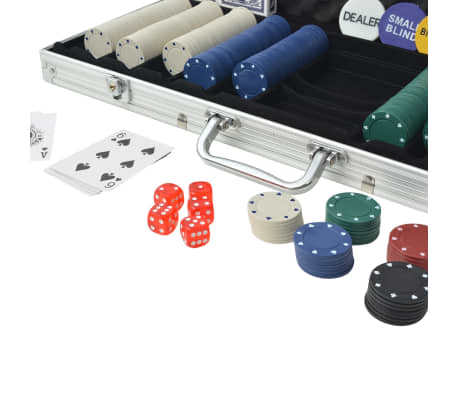 vidaXL Jeu de poker avec 500 jetons Aluminium[3/5]