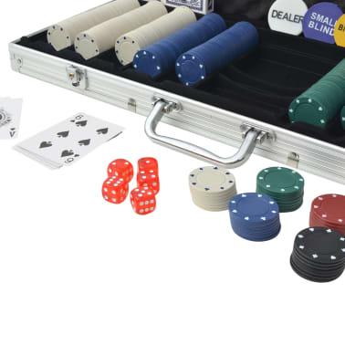 vidaXLi 500 žetooniga pokkerikomplekt alumiiniumkohvris[3/5]