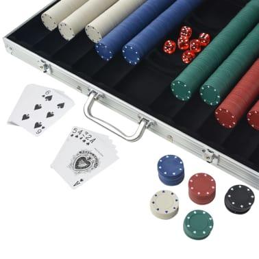 vidaXL Pokerio rinkinys su 1000 žetonų, aliuminis[3/5]