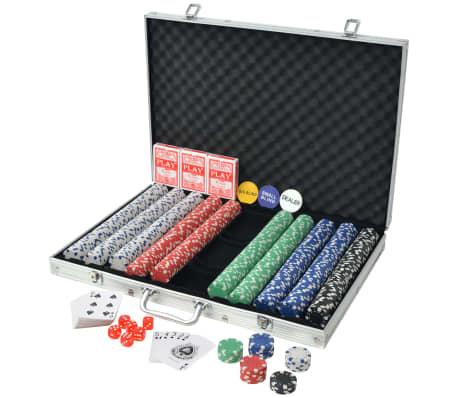 vidaXL Pokerset med 1000 marker aluminium[2/5]