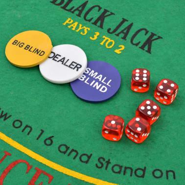 vidaXL Pokerio/Blackjack rinkinys su 600 žetonais su vertėmis, aliuminis[4/7]