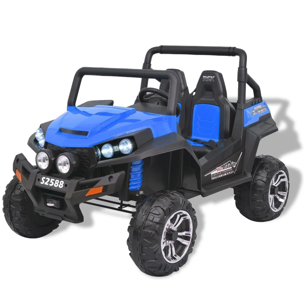 Elektrické dětské auto 2 osoby XXL modro-černé