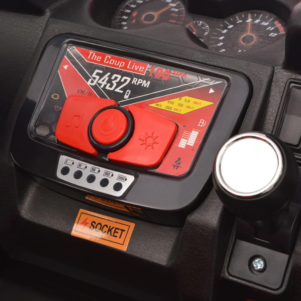 vidaXL Elektrische speelgoedauto voor 2 personen blauw en zwart XXL