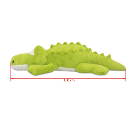 vidaXL Minkštas pliušinis krokodilas, XXL, 150 cm[5/5]