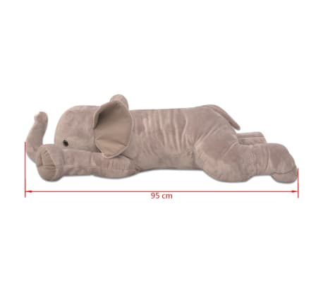 vidaXL Plush Cuddly Toy Elephant XXL 95 cm[4/4]