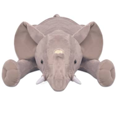 vidaXL Plush Cuddly Toy Elephant XXL 95 cm[3/4]