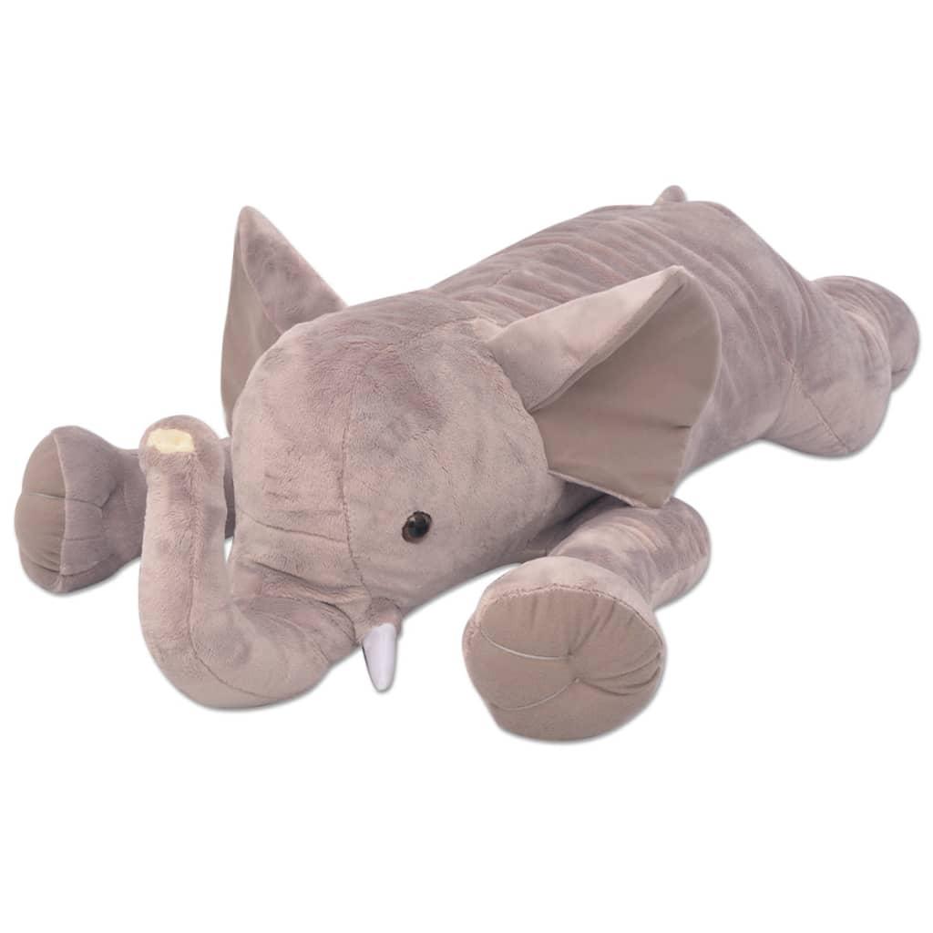 vidaXL Plyšová hračka slon XXL 120 cm