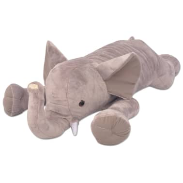 vidaXL Elefant de pluș de jucărie XXL, 120 cm[1/4]